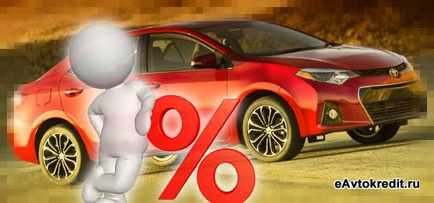 Где взять кредит на Toyota Corolla
